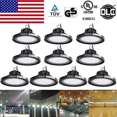 10Pcs Bright Pendant LED High Bay Light 20800LM 160W Ceiling Fixture Commercial