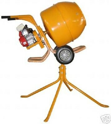 CEMENT MIXER CONCRETE MIXER WITH STAND PETROL 2.5 HP NEW incs free plaster mixer