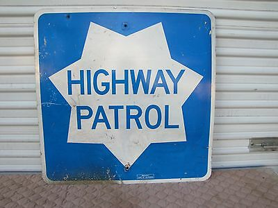 "Vintage CHP California Highway Patrol Freeway Sign Reflective Large 30""x 30"""