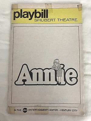 """Molly Ringwald """"ANNIE"""" Jane Connell / Charles Strouse 1978 Los Angeles Playbill"""