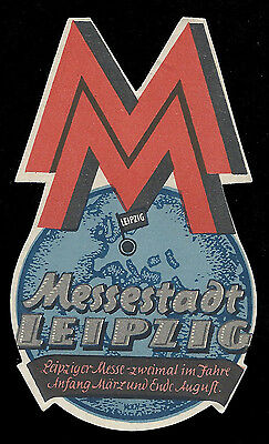 Messestadt LEIPZIG Germany – vintage luggage tourist travel label