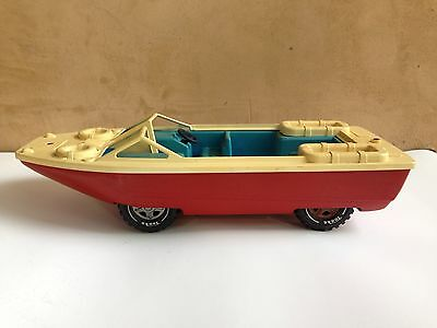 1970s Tonka Amphibious Boat Red w/ White Deck