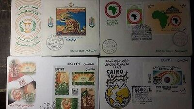 Egypt Old Different First Day Covers Lot 10