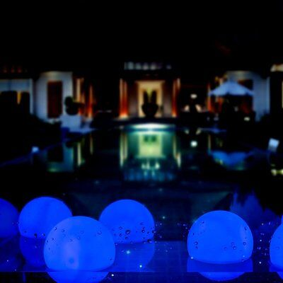 3'' Mood Steady On Light LED Floating Ball LED Lamp For Pool & Party Blue