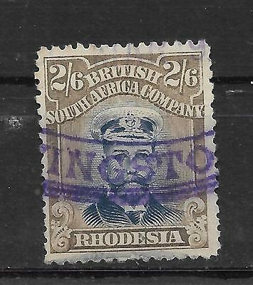 RHODESIA, ADMIRALS, 1913 KGV, 2/6d DIE 111, SG 274, FISCALLY USED, CAT 80 GBP