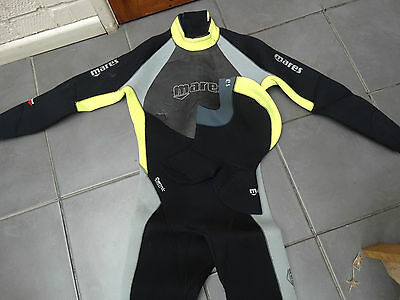 Mares 5mm Thermic Evolution Mens Size 4 Wetsuit With Hood