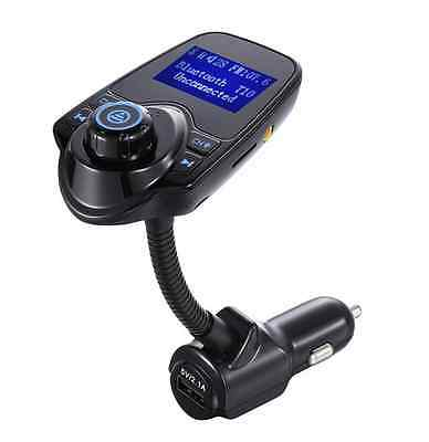 Hands-free FM Transmitter Bluetooth Car Kit Smartphones TF Card MP3 USB Charger