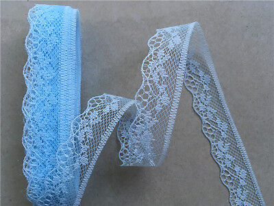 Beautiful embroidery lace unilateral 5 Yards Free Shipping Color blue 325-1#