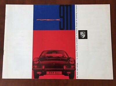 Early Porsche 911 1964 1965 SONAUTO Sales Brochure Literature French Language