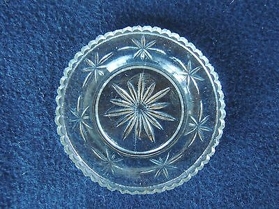 "Antique Lacy Sandwich Glass Cup Plate Star 3.25"" original conventional"