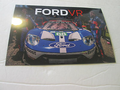 "2016 FORD VR (FORD GT AT LE MANS) 6"" x 4"" POSTCARD BROCHURE"