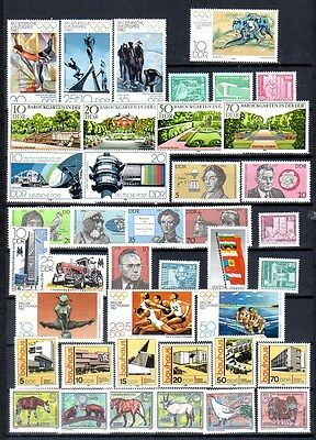 East-Germany/DDR/GDR: All stamps of 1980 in a year set complete, MNH