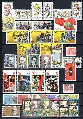 East-Germany/DDR/GDR: All stamps of 1981 in a year set complete, MNH