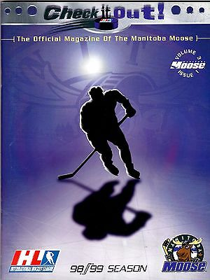 1998-1999 Manitoba Moose Yearbook International Hockey League msc8