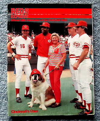 1986 Reds Express Official Cincinnati Reds Game Program with Scorecard jmc