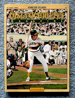 1987 Oakland A's Official Magazine Program with scorecard Vol. 7 No. 1 jmc