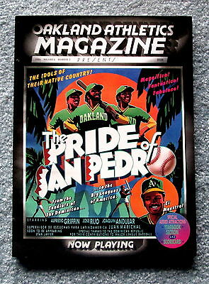 1986 Oakland A's Official Magazine Program with Scorecard Vol. 6 No. 2 jmc