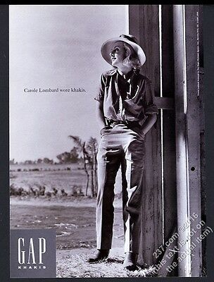 1994 Carole Lombard photo The Gap fashion clothes store vintage print ad