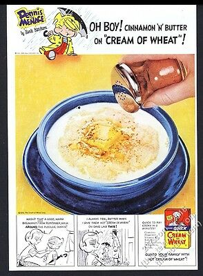 1955 Dennis the Menace color art Cream of Wheat cereal vintage print ad