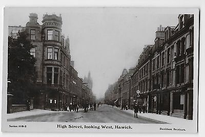 HAWICK Roxburghshire Scotland THE HIGH STREET LOOKING WEST