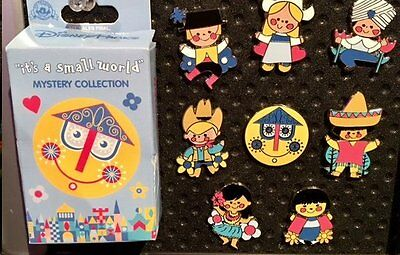 Disney It's a Small World Boxed 2pc Pin, Dutch/Japanese girls