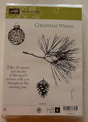 """Stampin up! """"Ornamental Pine"""" Rubber stamp set of 6"""