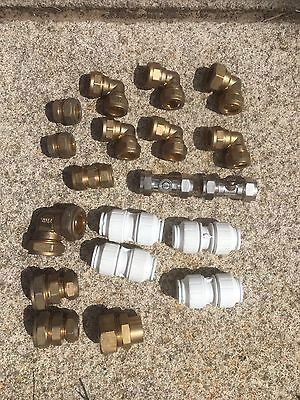 Job Lot Of 22mm And 15mm Compression Plumbing Fittings