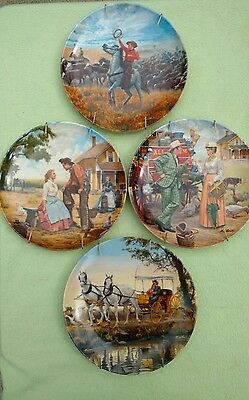 Knowles Oklahoma Plate Set Of Four