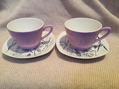 Midwinter Stylecraft Whispering Grass Two Coffee Cups And Saucers