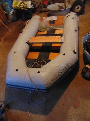 Seago Inflatable Boat/Dinghy, wooden slatted