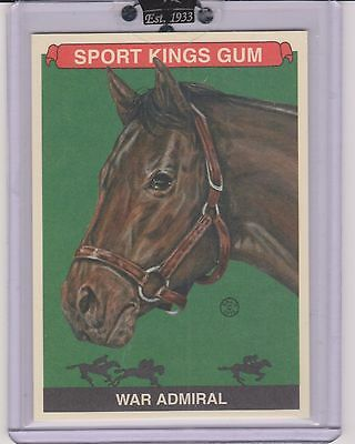 Awesome 2010 Sport Kings War Admiral Card #192 ~ Race Horse ~ Triple Crown Great