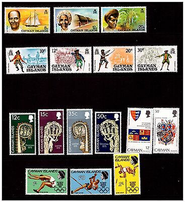 Cayman Islands Stamp Selection. Mounted With Hinge.  #795