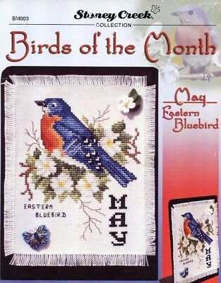 May Eastern Bluebird Birds of the Month Stoney Creek Cross Stitch Pattern RARE