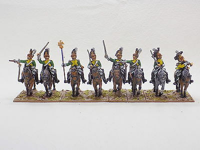 28mm Napoleonic metal FRENCH CUIRASSIERS x8 Well Painted Front Rank 41633