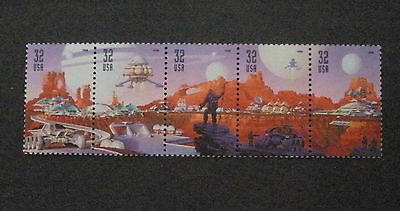 US Postage Stamps Mint NH Scott 3238-3242 SPACE DISCOVERY Strip of 5