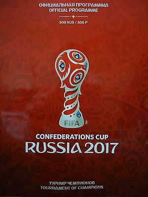off. Programme FIFA Confed Cup 2017 Russia with Portugal Germany Chile Australia