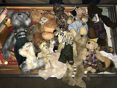 Lot Of 14 Ganz Cottage Collectibles Bears Including First Edition Owen