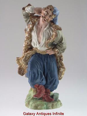 Rare Large 19th Century Russian Porcelain Figure By Francis Gardner Factory