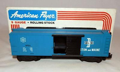 American Flyer 4-9703 B&M Box Car Boston and Maine Boxcar S gauge CLEAN Boxed fs
