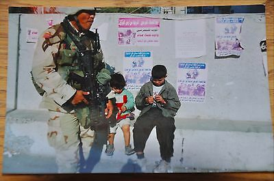 Iraqi Freedom OIF 1st Armored Photograph 3 x 5 Kids eating candy in Baghdad
