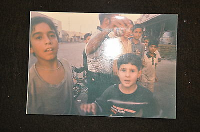 EARLY OPERATION IRAQI FREEDOM 1st ARMORED DIVISION PHOTO - IRAQI CHILDREN