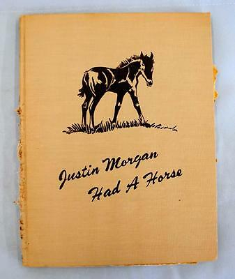 1945 Justin Morgan Had a Horse by Marquerite Henry, Illustrated by Wesley Dennis