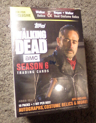 2017 Topps The Walking Dead - Season 6 - Wal Mart Blaster - Exclusive Relics
