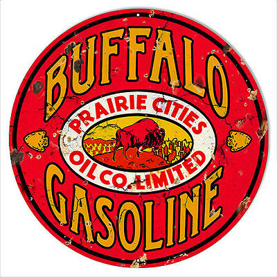 Buffalo Gasoline Reproduction Aged looking Gartage Shop Sign 14x14