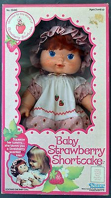 "FACTORY SEALED 1982 Strawberry Shortcake Baby-14"" Blow a Kiss #26400 MINT MIB"