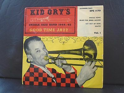 "KID ORY E.P "" CREOLE JAZZ BAND 1944-45 "" UK VOGUE EX+ COND. in pic sl."