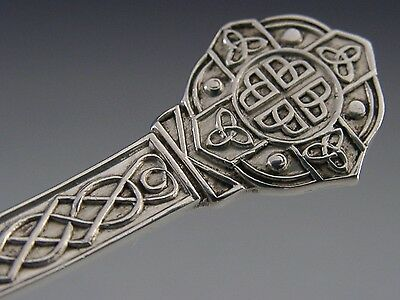 Quality Sterling Silver Lindisfarne Celtic Pattern Sauce Ladle 1970