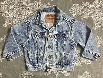 Levis Vintage 4t toddler boys/girls denim jean jacket Orange Tab Little Levi's