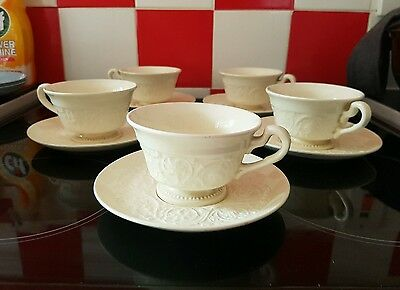 5 sets of Wedgwood Patrician Tea Cups and Saucers