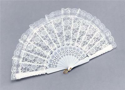 New! White Lace Fan Fancy Dress Geisha / Spanish Lady